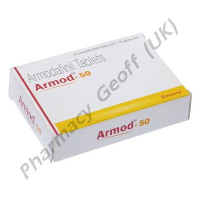 Armod (Armodafinil) - 50mg (10 Tablets)