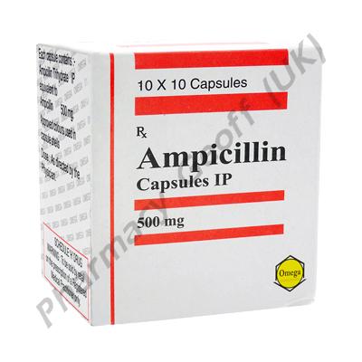 Ampicillin (Ampicillin) - 500mg (10 Capsules)
