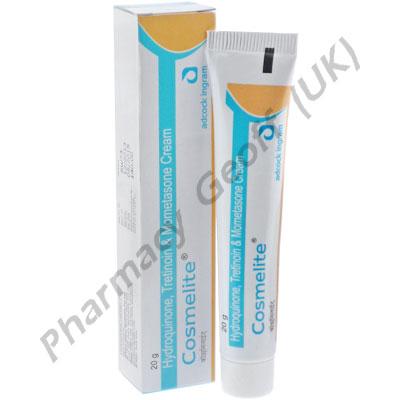 Cosmelite Cream (Hydroquinone 2% / Tretinoin 0.025% / Mometasone Furoate 0.1%) - 20g Tube