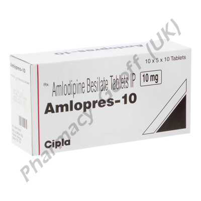 Amlopres (Amlodipine Besilate) - 10mg (10 Tablets)