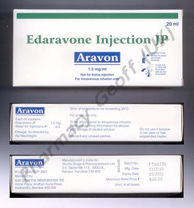 Aravon (Edaravone) - 1.5mg/mL (20mL)