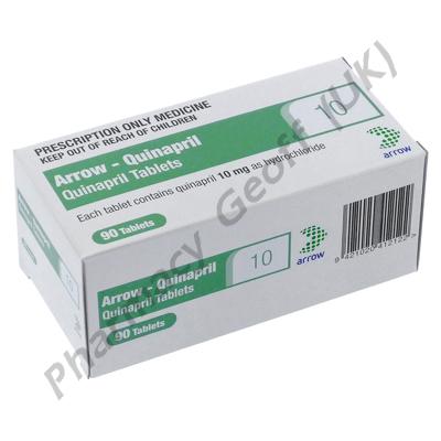 Arrow-Quinapril (Quinapril Hydrochloride) - 10mg (90 Tablets)