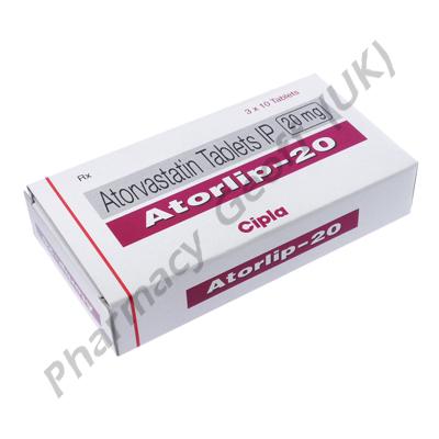 Atorlip (Atorvastatin Calcium) - 20mg (15 Tablets)
