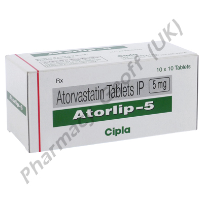 Atorlip (Atorvastatin Calcium) - 5mg (30 Tablets)