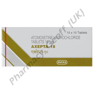 Axepta 18 (Atomoxetine) - 18mg (10 Tablets)