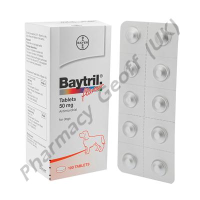 Baytril (Enrofloxacin) - 50mg (10 Tablets)