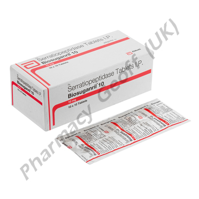 Biosuganril 10 (Serratiopeptidase) - 10mg (10 Tablets)