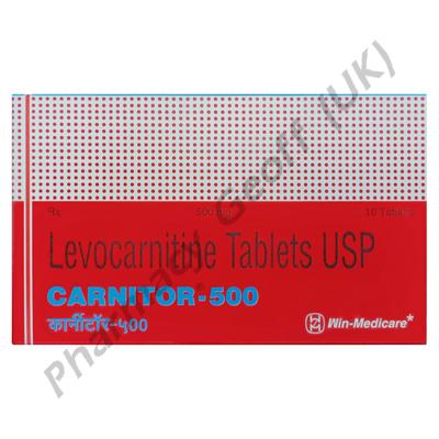 Carnitor-500 (Levocarnitine) - 500mg (10 Tablets)