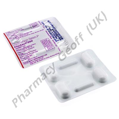Clarbact 500 (Clarithromycin) - 500mg (4 Tablets)
