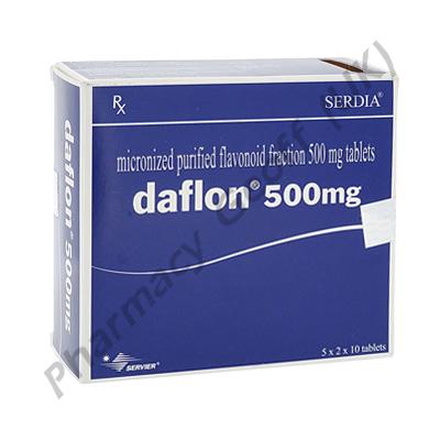Daflon 500 (Rutaceae) - 500mg (10 Tablets)