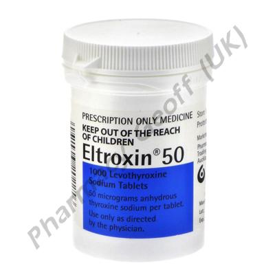 Eltroxin (Levothyroxine Sodium) - 50mcg (1000 Tablets)