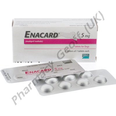 Enacard (Enalapril Maleate) - 5mg (28 Tablets)