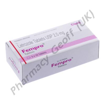 Fempro (Letrozole) - 2.5mg (10 Tablets)