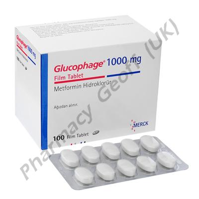 Glucophage (Metformin Hydrochloride) - 1000mg (100 Tablets)