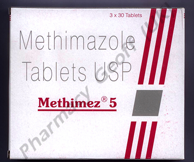 Methimez (Methimazole) - 5mg (3 x 30 Tablets)