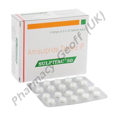 Amisulpride (Sulpitac) - 50mg (10 Tablets)