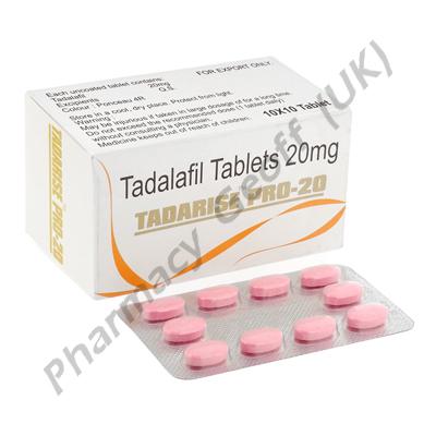 Tadarise Pro-20 (Tadalafil) - 20mg (10 x 10 Tablets)