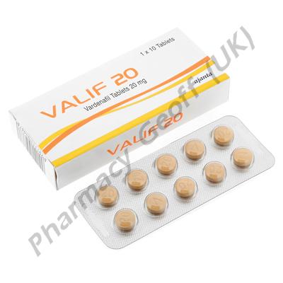 Valif (Vardenafil) - 20mg (10 Tablets)
