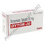 Torsemide (Dytor) - 20mg (10 Tablets)