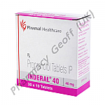 Propranolol (Inderal) - 40mg (10 Tablets)