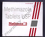 Methimez (Methimazole) - 5mg (3 x 30 Tablets)
